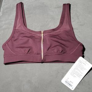 Lululemon burgundy Zip it up sports bra